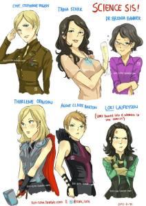 Gender bent Avengers